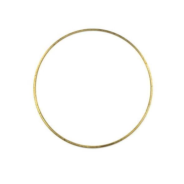 Raw Brass 44mm Hoop Link Components - 6 per bag - CTBXJ-010