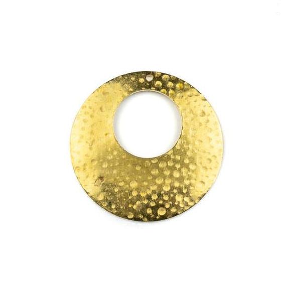 Raw Brass 35mm Hammered Agogo Components - 6 per bag - CTBXJ-017