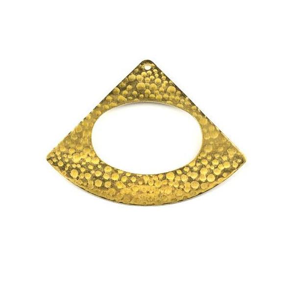 Raw Brass 35x46mm Hammered Triangle Agogo Components - 6 per bag - CTBXJ-018
