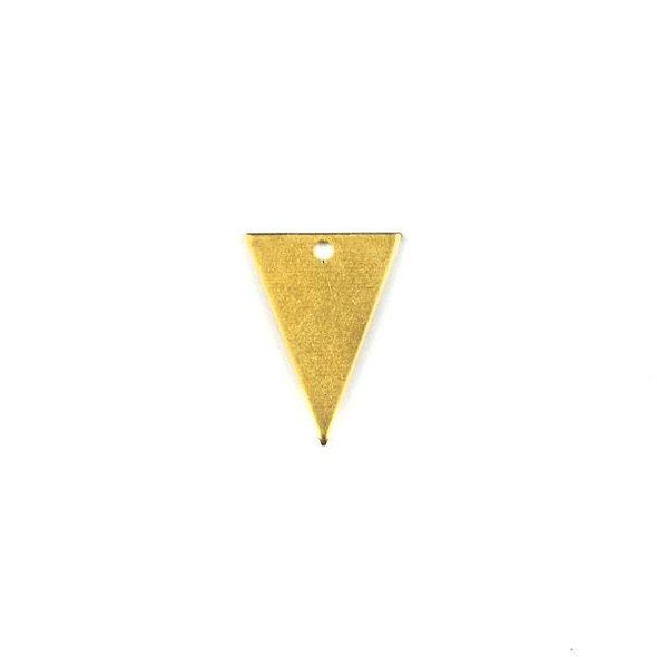 Raw Brass 13x18mm Triangle Drop Components - 6 per bag - CTBXJ-020