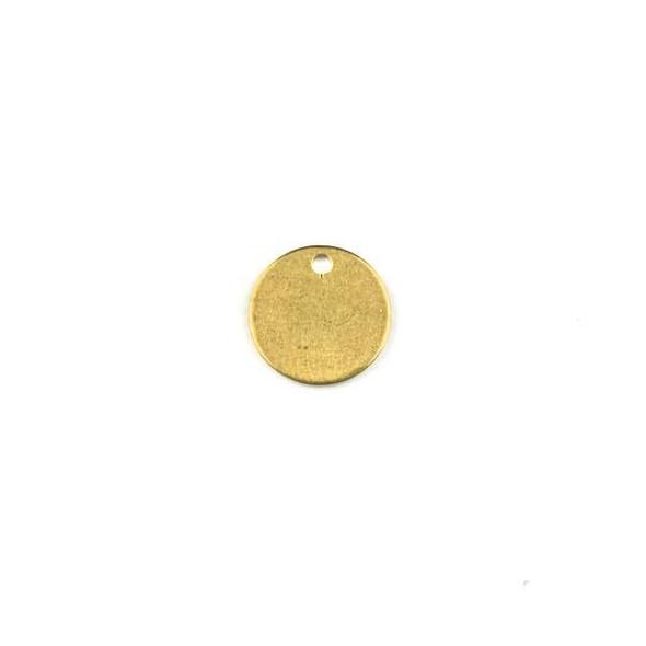 Raw Brass 11mm Coin Drop Components - 6 per bag - CTBXJ-021