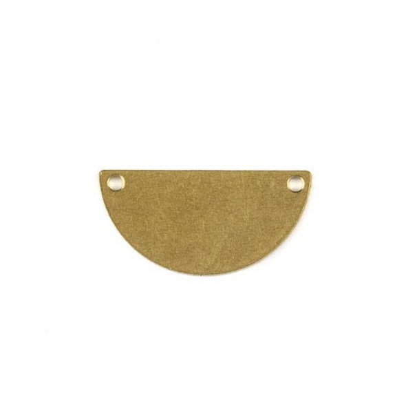 Raw Brass 10x21mm Half Moon Link Components - 6 per bag - CTBXJ-022