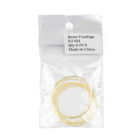 Raw Brass 34mm Hoop Link Components - 6 per bag - CTBXJ-023