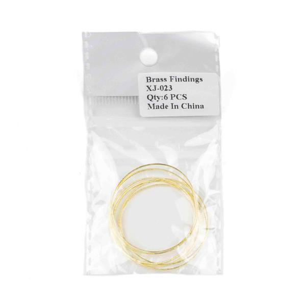Raw Brass 34mm Hoop Link Components - 6 per bag - CTBXJ-023