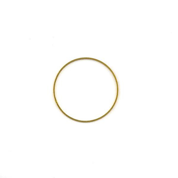 Raw Brass 24mm Hoop Link Components - 6 per bag - CTBXJ-024
