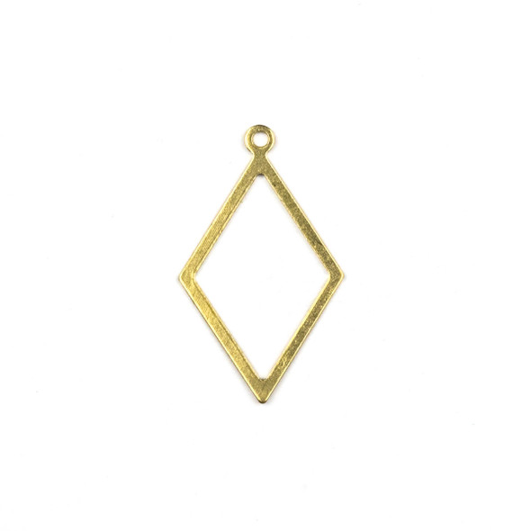 Raw Brass 17x29mm Diamond Drop Components - 6 per bag - CTBXJ-031