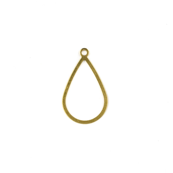Raw Brass 17x29mm Small Teardrop Drop Components - 6 per bag - CTBXJ-032