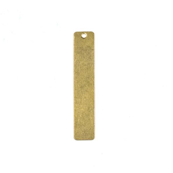 Raw Brass 6x36mm Rectangle Drop Components - 6 per bag - CTBXJ-056