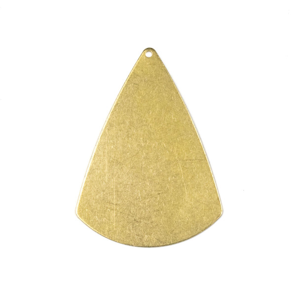 Raw Brass 31x42mm 2D Cone Shaped Drop Components - 6 per bag - CTBXJ-057