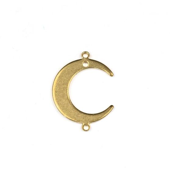 Raw Brass 16x22mm Crescent Moon Link Components - 6 per bag - CTBXJ-059