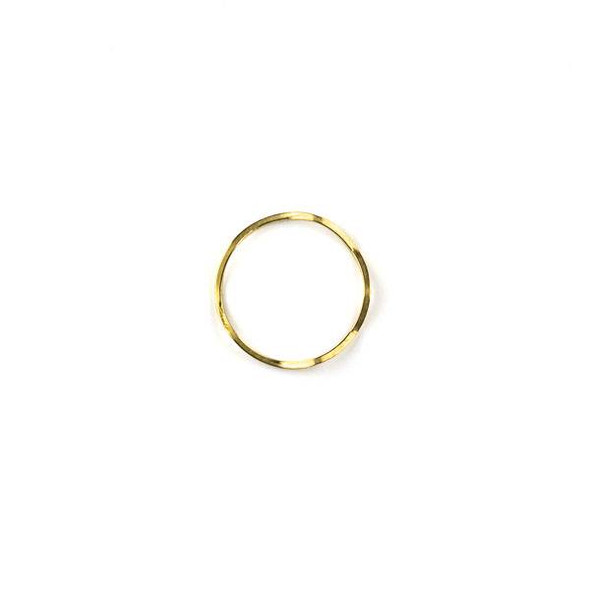 Raw Brass 18mm Wavy Hoop Link Components - 6 per bag - CTBYH-001b