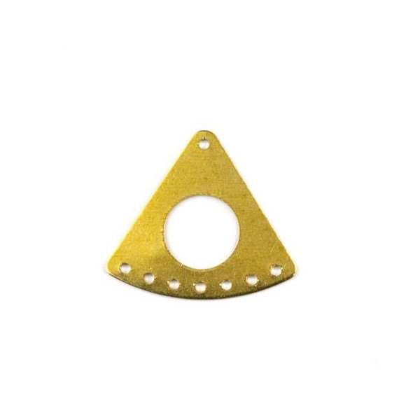 Raw Brass 20x23mm Triangle Link Components with Holes - 6 per bag - CTBYH-002b