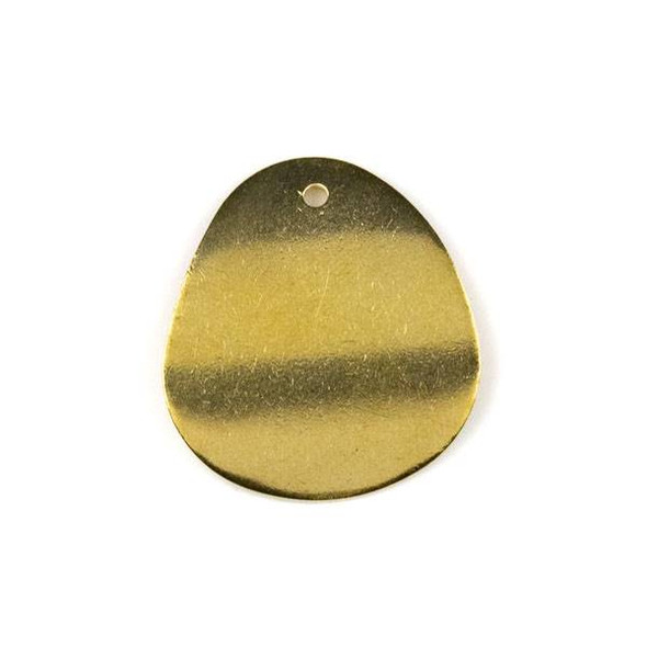 Raw Brass 24x27mm Concave Rounded Teardrop Drop Components - 6 per bag - CTBYH-003b