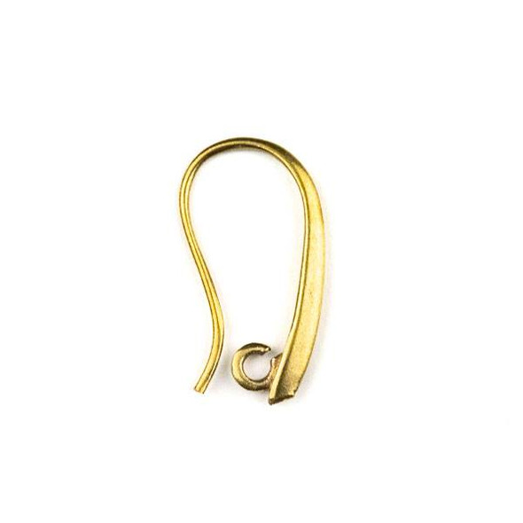 Raw Brass 10x20mm Elegant Ear Wires with Open Loop - 6 per bag - CTBYH-005b