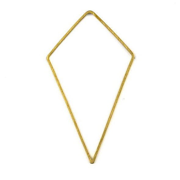 Raw Brass 34mm Kite Geometric Shaped Components - 6 per bag - CTBYH-014b