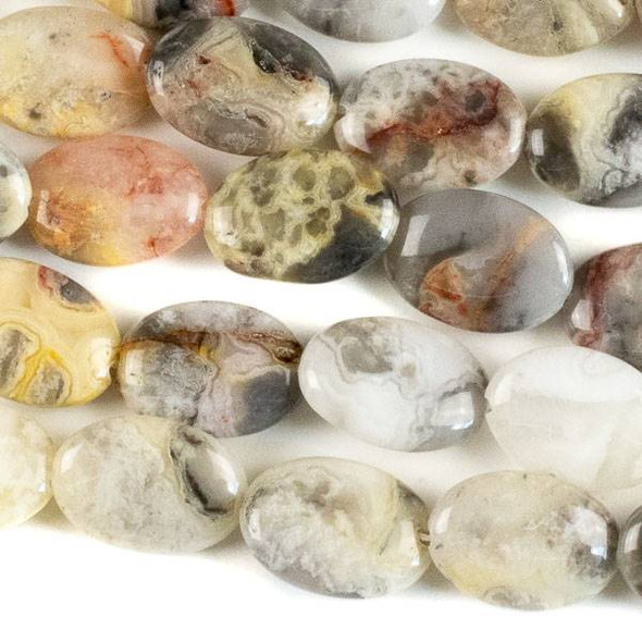 Crazy Lace Agate 10x14mm Oval Beads - approx. 8 inch strand, Set A