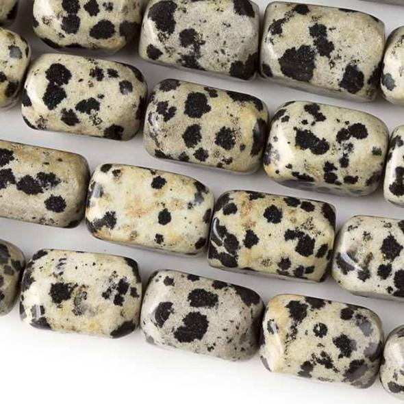 Dalmatian Jasper  10x14mm Nugget Beads - approx. 8 inch strand, Set A