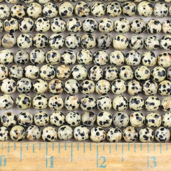 Dalmatian Jasper 8mm Round Beads - approx. 8 inch strand, Set A