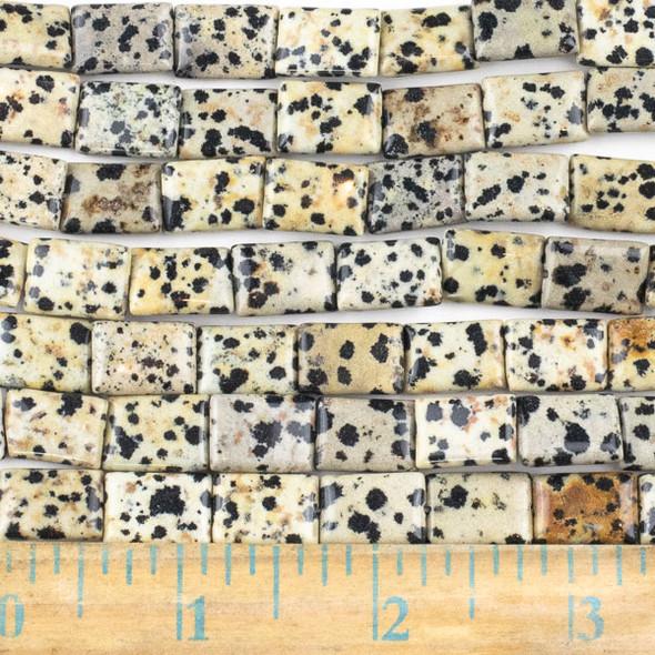 Dalmatian Jasper  10x14mm Rectangle Beads - approx. 8 inch strand, Set A