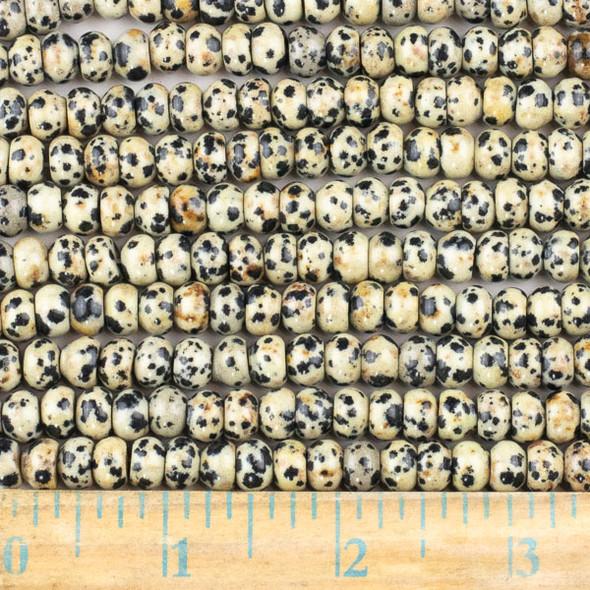 Dalmatian Jasper 5x8mm Rondelle Beads - approx. 8 inch strand, Set A