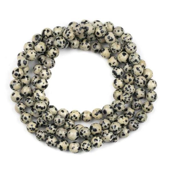 Dalmatian Jasper 8mm Mala Round Beads - 36 inch strand