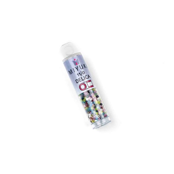 Miyuki 11/0 Spring Flowers Mix Delica Seed Beads - #MIX15, 7 gram tube
