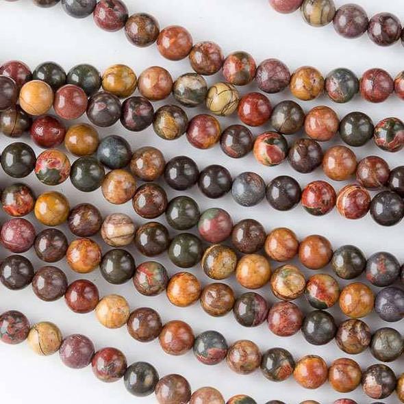Dark Red Cherry Creek Jasper 6mm Rounds - 16 inch strand