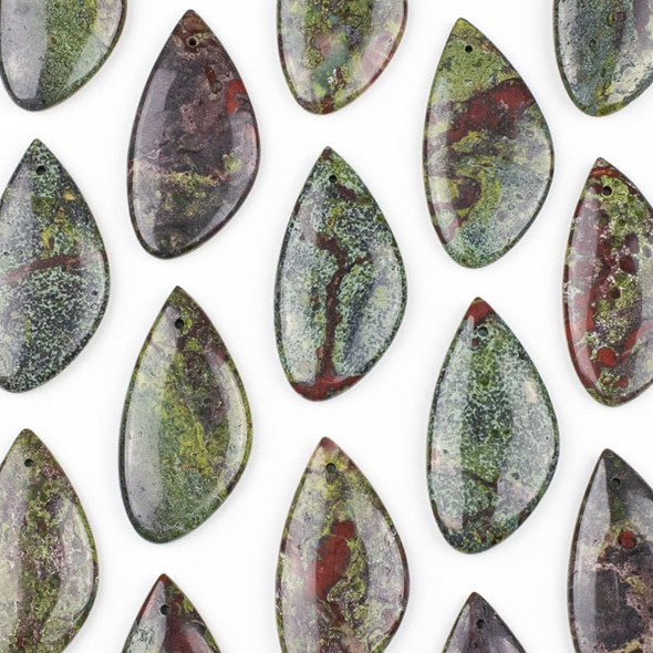 Dragon Blood Jasper 25x50mm Free Form Pendant - 1 per bag