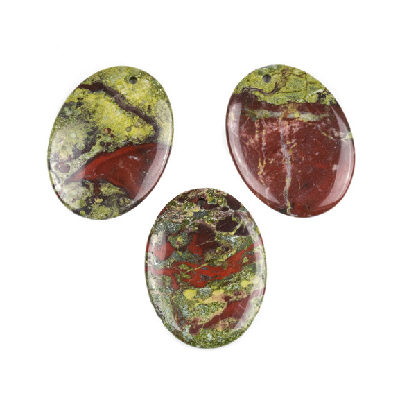 Dragon Blood Jasper 30x40mm Oval Pendant - 1 per bag