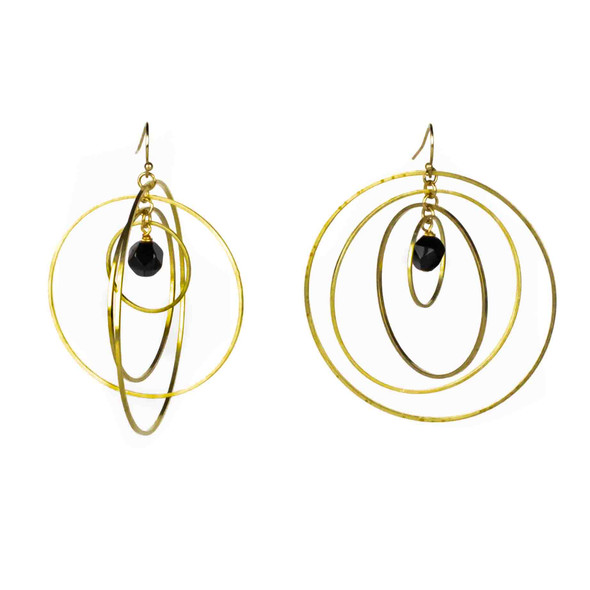 Onyx Star Cut Earring Kit - #007