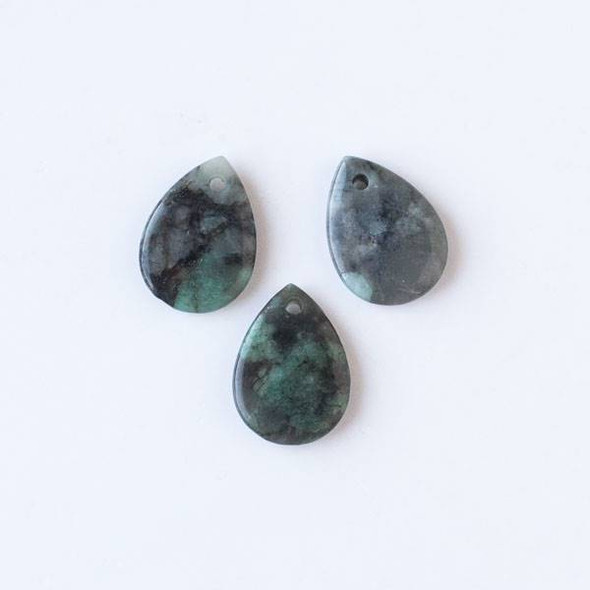 Emerald 16x22mm Small Teardrop Pendant