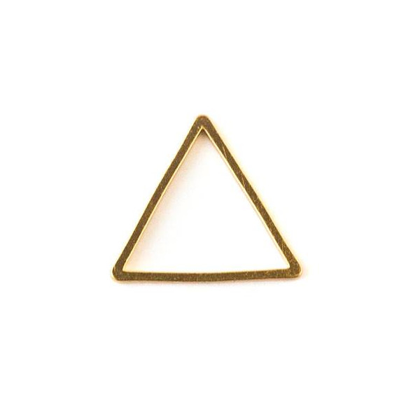 Gold Colored Brass 13x15mm Triangle Link - 6 per bag - ES7259g