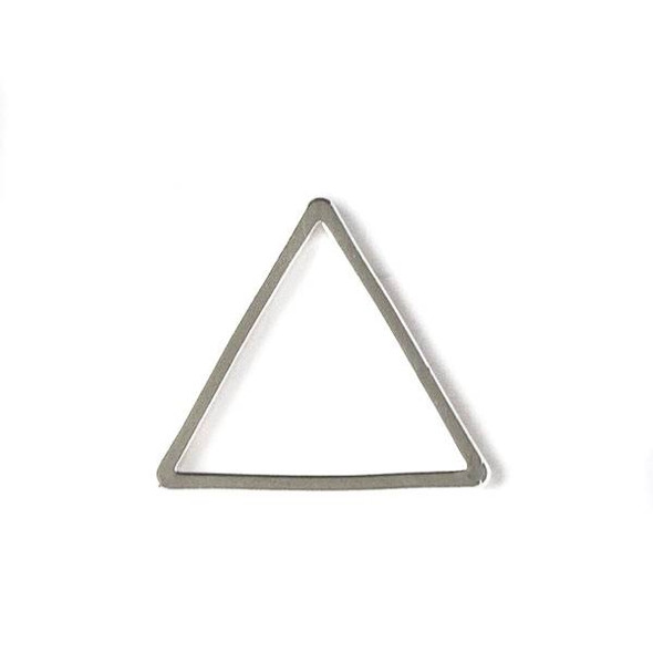 Silver Plated Brass 13x15mm Triangle Link - 6 per bag - ES7259s