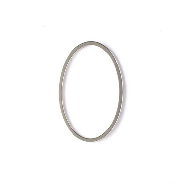 Silver Plated Brass 16x26mm Oval Link - 6 per bag - ES7282s