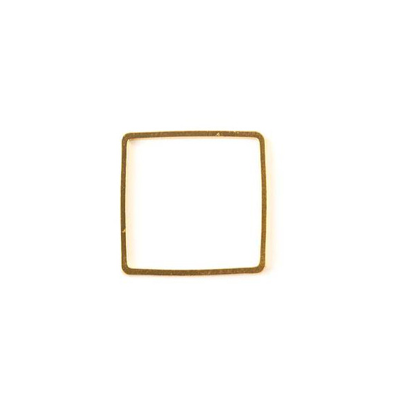 Gold Colored Brass 20mm Square Link - 6 per bag - ES7300g