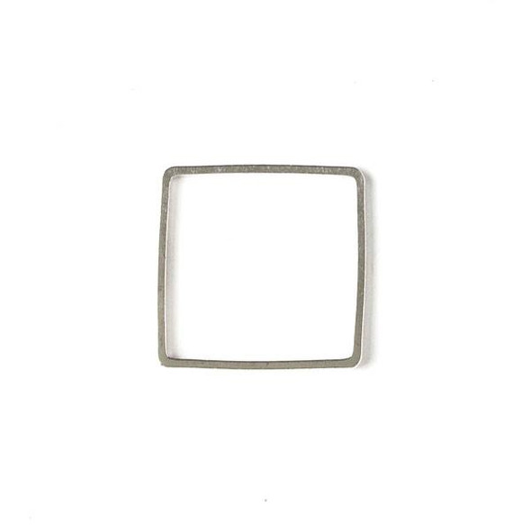 Silver Plated Brass 20mm Square Link - 6 per bag - ES7300s
