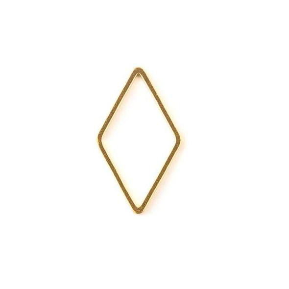 Gold Colored Brass 13x23mm Diamond Link - 6 per bag - ES7354g
