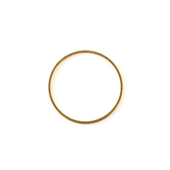 Gold Colored Brass 25mm Hoop Link - 6 per bag - ES7374g