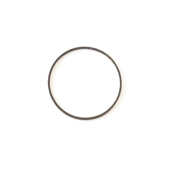 Gun Metal Colored Brass 25mm Hoop Link - 6 per bag - ES7374gm
