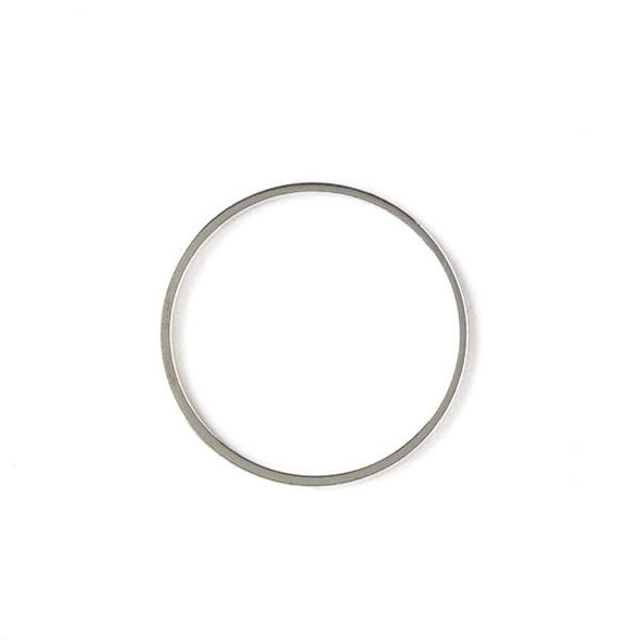 Silver Plated Brass 25mm Hoop Link - 6 per bag - ES7374s