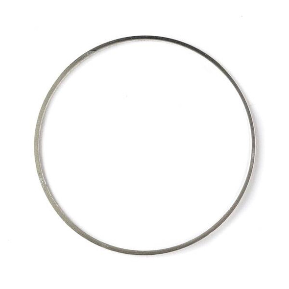 Silver Plated Brass 39mm Hoop Link - 6 per bag - ES7379s