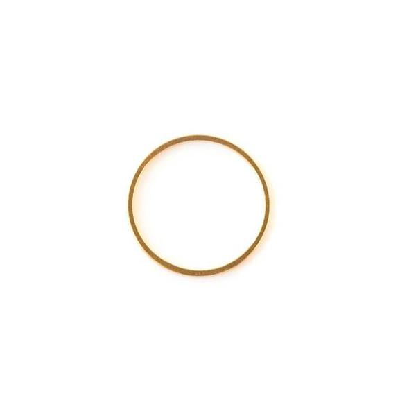 Gold Colored Brass 20mm Hoop Link - 6 per bag - ES7387g