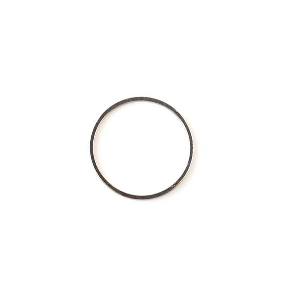 Gun Metal Colored Brass 20mm Hoop Link - 6 per bag - ES7387gm
