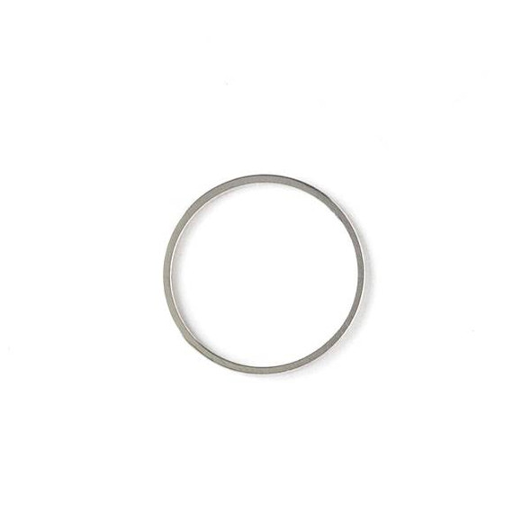 Silver Plated Brass 20mm Hoop Link - 6 per bag - ES7387s