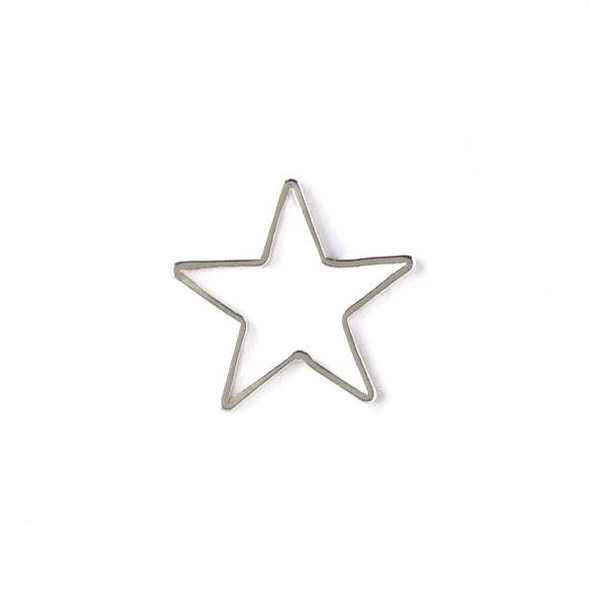 Silver Plated Brass 16x17mm Star Link - 6 per bag - ES7610s