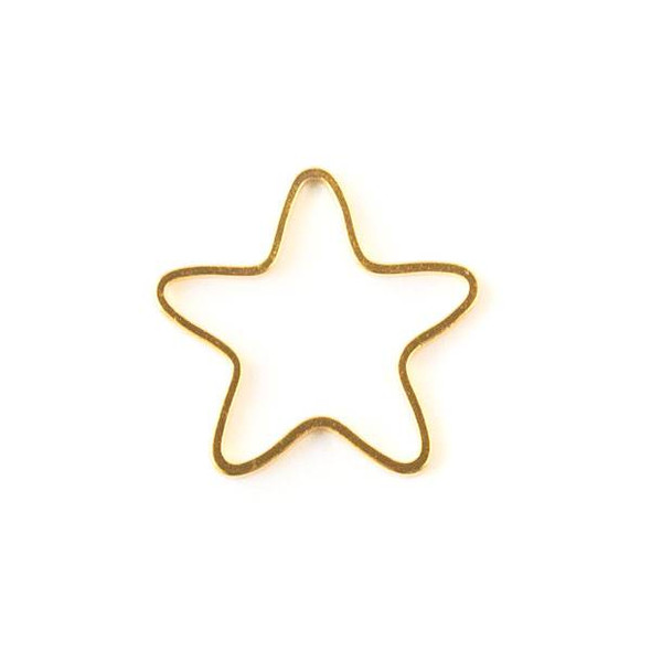 Gold Colored Brass 22mm Star Link - 6 per bag - ES7611g