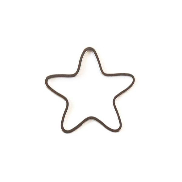 Gun Metal Colored Brass 22mm Star Link - 6 per bag - ES7611gm