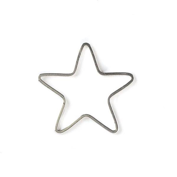 Silver Plated Brass 22mm Star Link - 6 per bag - ES7611s