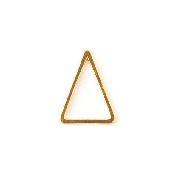 Gold Colored Brass 12x15 Triangle Link - 6 per bag - ES7822g