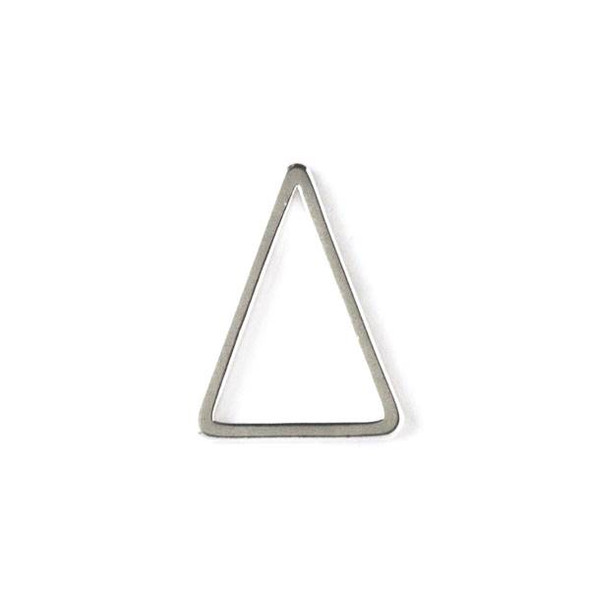 Silver Plated Brass 12x15 Triangle Link - 6 per bag - ES7822s